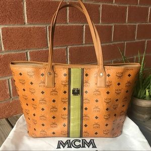 MCM Visetos Rudic Limited Edition Shopper Tote Bag